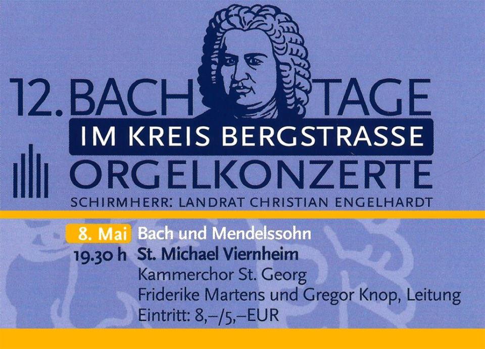 """Konzertreihe """"Bachtage"""" im Kreis Bergstraße"""