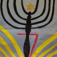 Siebtes Fenster gestaltet vom Auerbecher Synagogenverein