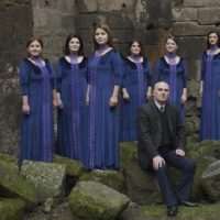 Chor des Klosters Geghard in Armenien