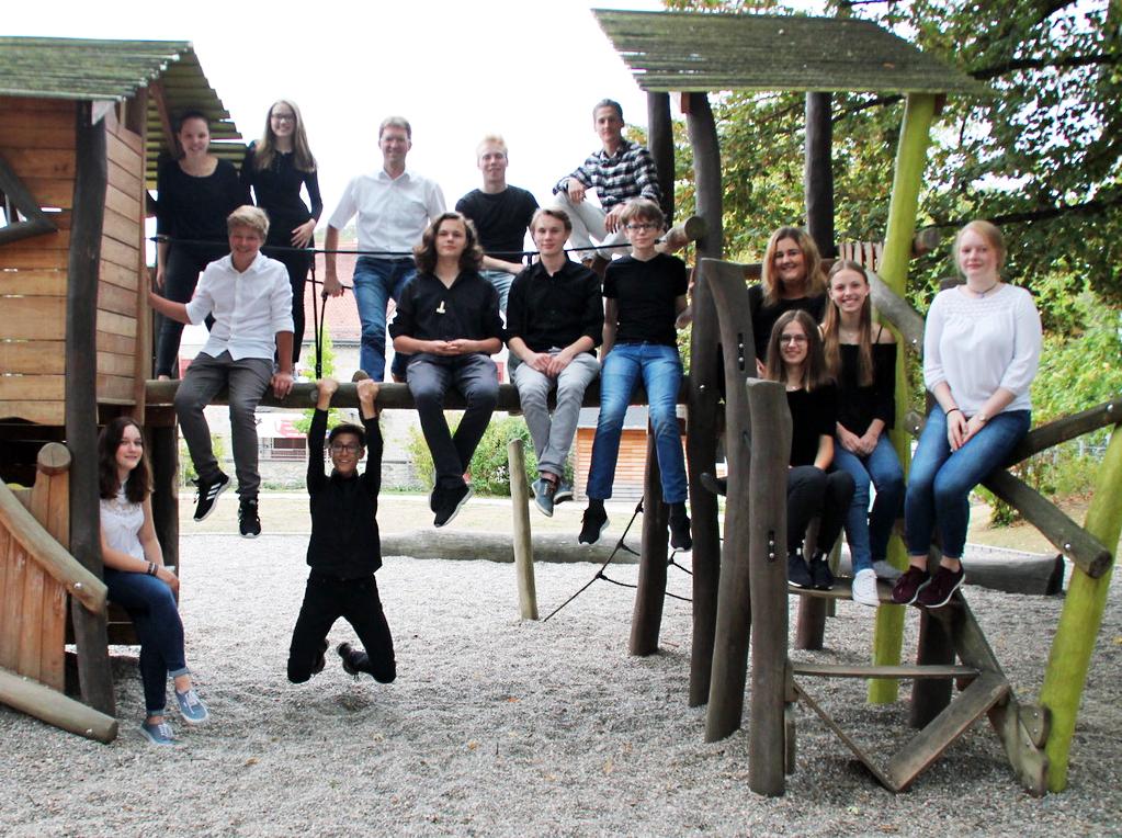 Das Junge Vokalensemble der katholischen Stadtgemeinde St. Georg.