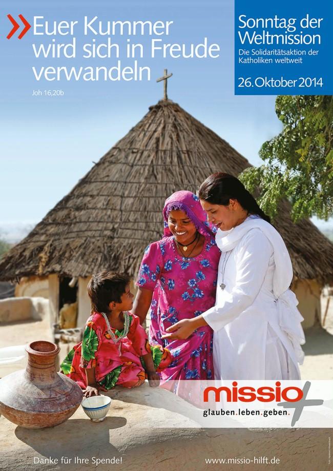 Plakat Sonntag der Weltmission 2014